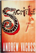 Books:Signed Editions, Andrew Vachss. Sacrifice. New York: Alfred A. Knopf, 1991. First edition. Inscribed and signed by the author on th...