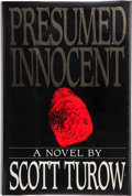 Books:Signed Editions, Scott Turow. Presumed Innocent. New York: Farrar Straus Giroux, [1987]. First edition. Signed by the author on the...