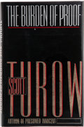 Books:Signed Editions, Scott Turow. The Burden of Proof. New York: Farrar Straus Giroux, [1990]. First edition. Signed by the author on t...