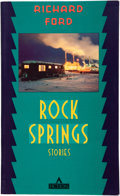 Books:First Editions, Richard Ford. Children. From Rock Springs. Stories.[New York]: Fiction / Atlantic Monthly Press, [1987]. Advanc...