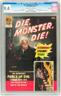 Silver Age (1956-1969):Horror, Movie Classics: Die, Monster, Die #nn File Copy (Dell, 1966) CGC NM9.4 Off-white to white pages....