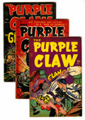 Golden Age (1938-1955):Horror, Purple Claw #1-3 Group (Minoan Publishing Co., 1953) Condition:Average VG/FN.... (Total: 3 Comic Books)