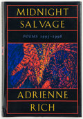 Books:First Editions, Adrienne Rich. Midnight Salvage. Poems 1995-1998. NewYork London: W. W. Norton & Company, [1999]. First edition...