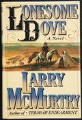 Books:First Editions, Larry McMurtry. Lonesome Dove. A Novel. New York:Simon and Schuster, [1985]. First edition. Publisher's origina...