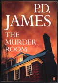 Books:First Editions, P. D. James. The Murder Room. [London]: Faber and Faber,[2003]. Uncorrected proof of the first edition. Publisher's...