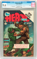 Golden Age (1938-1955):War, Heroic Comics #81 File Copy (Eastern Color, 1953) CGC NM+ 9.6 Creamto off-white pages....