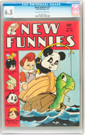 Golden Age (1938-1955):Funny Animal, New Funnies #77 (Dell, 1943) CGC FN+ 6.5 Off-white to whitepages....