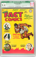 Golden Age (1938-1955):Non-Fiction, Real Fact Comics #1 (DC, 1946) CGC Qualified NM 9.4 Cream tooff-white pages....