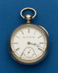 Timepieces:Pocket (pre 1900) , Elgin, 18 Size, 7 Jewel, Key Wind. ...
