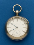 Timepieces:Pocket (pre 1900) , Elgin, 7 Jewel, 18 Size, Key Wind. ...