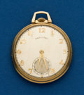 Timepieces:Pocket (post 1900), Hamilton, 14k, 21 Jewel, Grade 921. ...