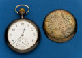 Timepieces:Pocket (post 1900), Elgin, Sterling Silver, 17 Jewel, 16 Size. ...