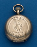 Timepieces:Pocket (post 1900), Elgin, 18 Size, Coin Silver, Hunters Case. ...