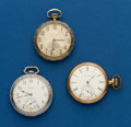 Timepieces:Pocket (post 1900), Three - Elgin, 12 Size Pocket Watches. ... (Total: 3 Items)