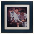 Baseball Collectibles:Others, Mickey Mantle Signed Lithograph....