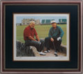 "Golf Collectibles:Art, Arnold Palmer and Jack Nicklaus ""The King and the Golden Bear""Signed Lithograph...."