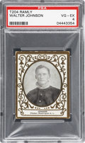 Baseball Cards:Singles (Pre-1930), 1909 T204 Ramly Walter Johnson PSA VG-EX 4....