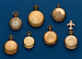 Timepieces:Pocket (post 1900), Seven - Ladies, Gold Filled Pocket Watches. ... (Total: 7 Items)