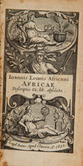 Books:Non-fiction, Ioannis Leonis Africani. Africae. Leyden: Apud Elzevir,1632. Travel edition. Twentyfourmo. 800 pages. Contemporary ...