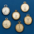 Timepieces:Pocket (post 1900), Six - 12 Size, American Pocket Watches. ... (Total: 6 Items)