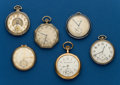 Timepieces:Pocket (post 1900), Six - 12 Size Pocket Watches. ... (Total: 6 Items)