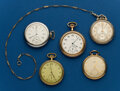 Timepieces:Pocket (post 1900), Five - 12 Size, American Pocket Watches. ... (Total: 5 Items)