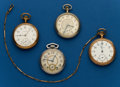 Timepieces:Pocket (post 1900), Four - American, 16 Size Pocket Watches. ... (Total: 4 Items)