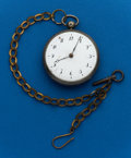 Timepieces:Pocket (pre 1900) , Swiss Silver Verge Fusee. ...
