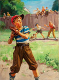 Mainstream Illustration, HY (HENRY) HINTERMEISTER (American, 1897-1972). The Sandlot.Oil on canvas. 30 x 22 in.. Signed lower left. ...