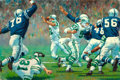 Mainstream Illustration, ARTHUR SARON SARNOFF (American, 1912-2000). Joe (Namath).Oil on canvas. 24 x 36 in.. Signed upper left. From theEs...