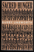 Books:First Editions, Barry Unsworth. Sacred Hunger. London: Hamish Hamilton,[1992]. First edition. Publisher's publicity bookmark laid-i...