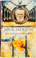 Books:First Editions, Mick Jackson. The Underground Man. London: Picador, [1997].First edition. Publisher's original binding and dust jac...