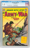 Golden Age (1938-1955):War, Our Army at War #22 (DC, 1954) CGC VF- 7.5 Cream to off-whitepages....