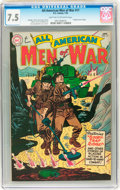 Golden Age (1938-1955):War, All-American Men of War #17 (DC, 1955) CGC VF- 7.5 Light tan tooff-white pages....
