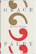 Books:Signed Editions, Grace Paley. Just As I Thought. New York: Farrar Straus Giroux, [1998]. First edition. Signed and dated by the aut...