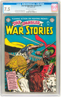 Golden Age (1938-1955):War, Star Spangled War Stories #18 (DC, 1954) CGC VF- 7.5 Off-white towhite pages....