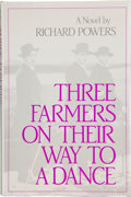 Books:First Editions, Richard Powers. Three Farmers on Their Way to a Dance. NewYork: Beech Tree Books / William Morrow, [1985]. First ed...