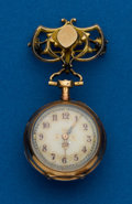 Timepieces:Pendant , Swiss Gold Miniature Watch. ...