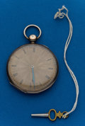 Timepieces:Pocket (pre 1900) , Chas. Oudin Silver Key Wind. ...