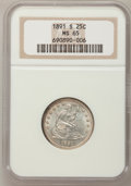 Seated Quarters, 1891-S 25C MS65 NGC....