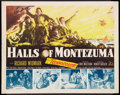 "Movie Posters:War, Halls of Montezuma Lot (20th Century Fox, 1951). Half Sheets (2)(22"" X 28""). War.. ... (Total: 2 Items)"