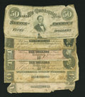 Confederate Notes:Group Lots, Six Confederate Notes Fair or Better.. ... (Total: 6 notes)