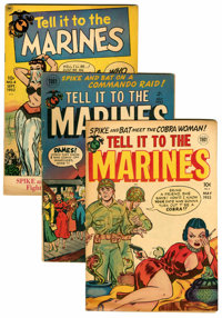 Tell it to the Marines Group (Toby Publishing, 1952-54).... (Total: 7 Comic Books)