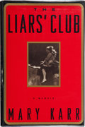 Books:Signed Editions, Mary Karr. The Liars' Club. A Memoir. [New York, et al.]: Viking, [1995]. First edition. Signed by the author ...