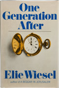 Books:Signed Editions, Elie Wiesel. One Generation After. Translated from the French by Lily Edelman and the author. New York: Random House...