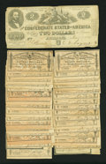 Confederate Notes:1862 Issues, T42 $2 1862.. ... (Total: 34 items)