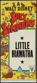 "Movie Posters:Animated, Silly Symphony Stock (RKO, 1940s). Australian Daybill (13"" X 30"")""Little Hiawatha."" Animated.. ..."