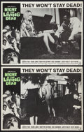 "Movie Posters:Horror, Night of the Living Dead (Continental, 1968). Lobby Cards (2) (11"" X 14""). Horror.. ... (Total: 2 Items)"