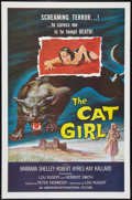 "Movie Posters:Horror, The Cat Girl (American International, 1957). One Sheet (27"" X 41""). Horror.. ..."