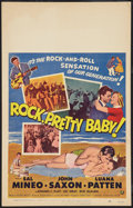 "Movie Posters:Rock and Roll, Rock, Pretty Baby (Universal International, 1957). Window Card (14""X 22""). Rock and Roll.. ..."